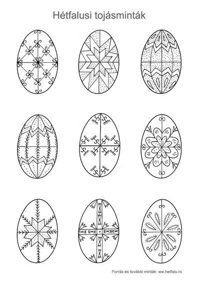 nyomtatható hagyományos tojásminták