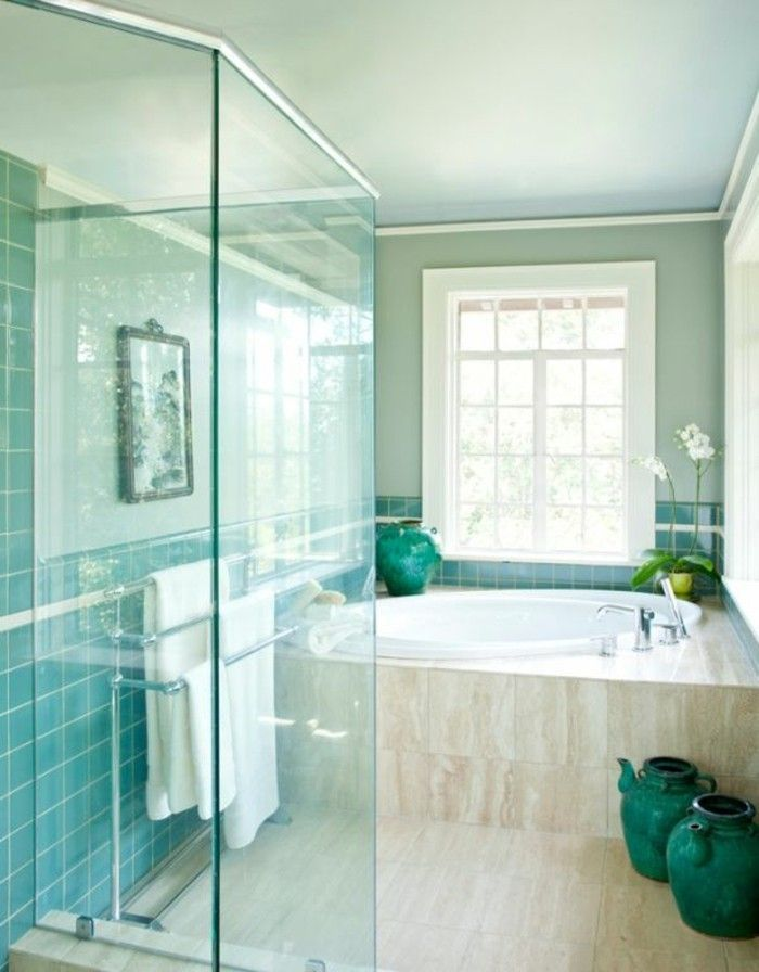 95 best Salle de bain images on Pinterest | Accent wall in ...