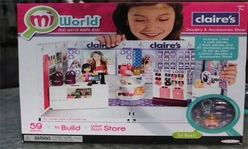 Mi World Claire's Playset Create Your Own Mall With Free Bonus Doll #JacksPacific