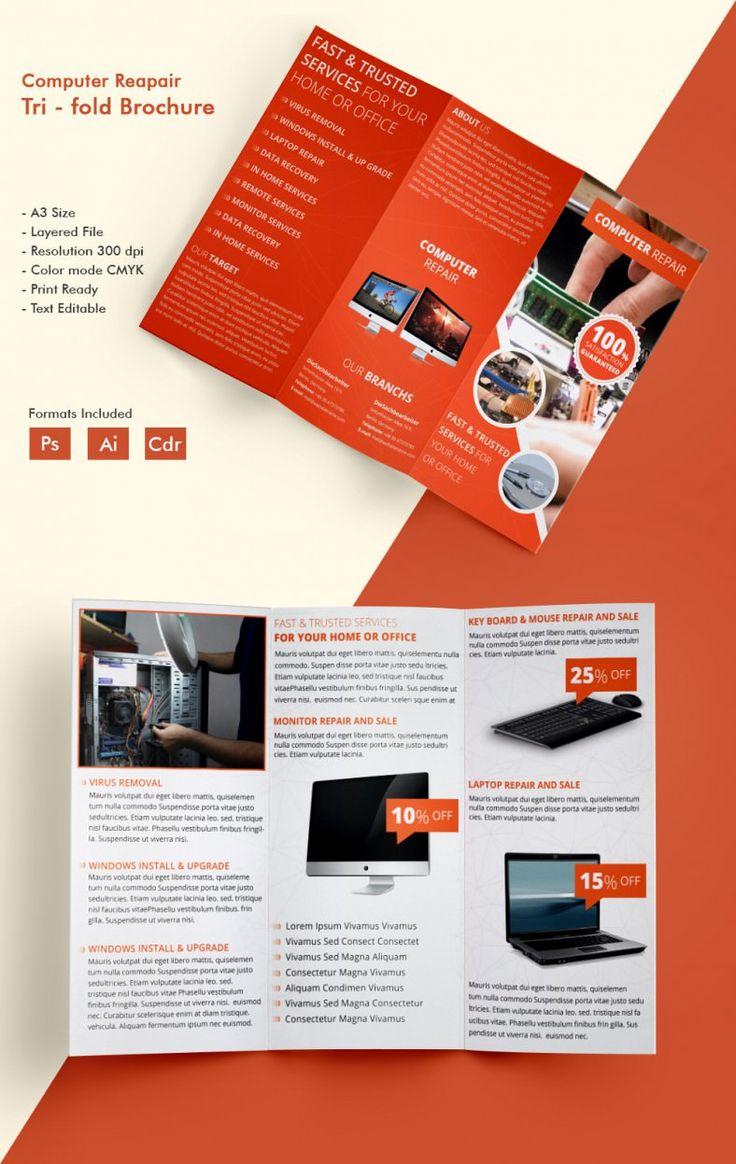 c3f1fd6e0f52ecddd453bf53221f07c6 tri fold brochure template business brochure