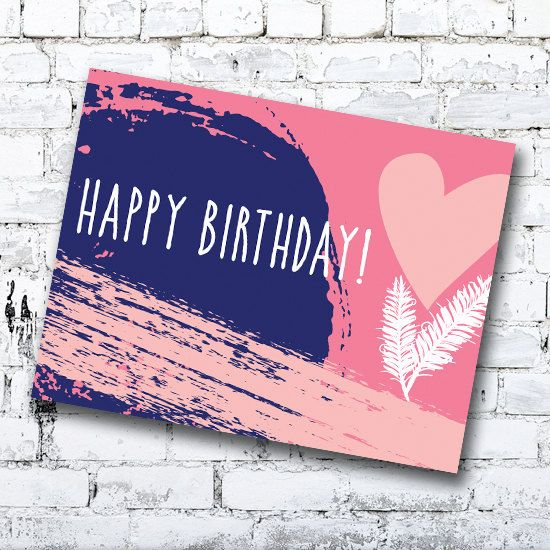 Birthday Card- Hearts & Feathers - Greeting Card by Thingsforasmile on Etsy