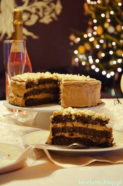 Noworoczny tort makowo-kawowy