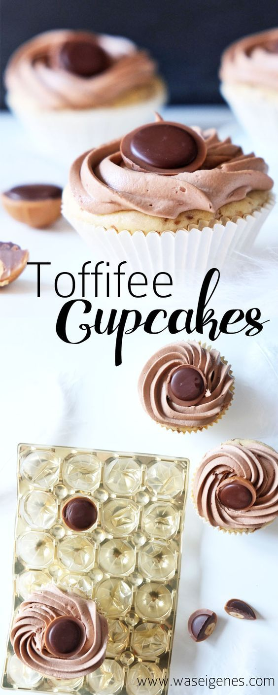 Rezept Toffifee Cupcakes mit Nutella Buttercreme Topping