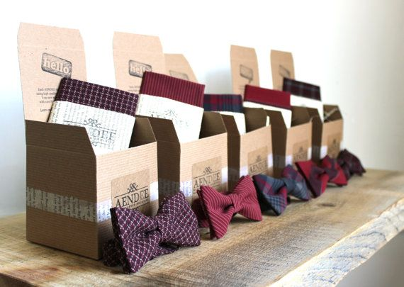 Mismatched Wedding Bow Ties  Groomsmen Bowties  Custom by aendee