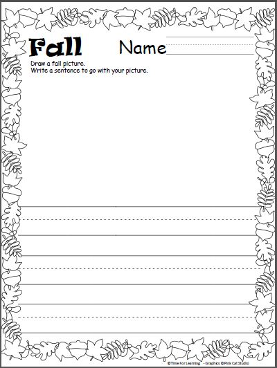 57 best Kindergarten Fall images on Pinterest Classroom ideas - leaf template for writing
