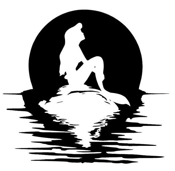 Svg disney little mermaid ariel on rock