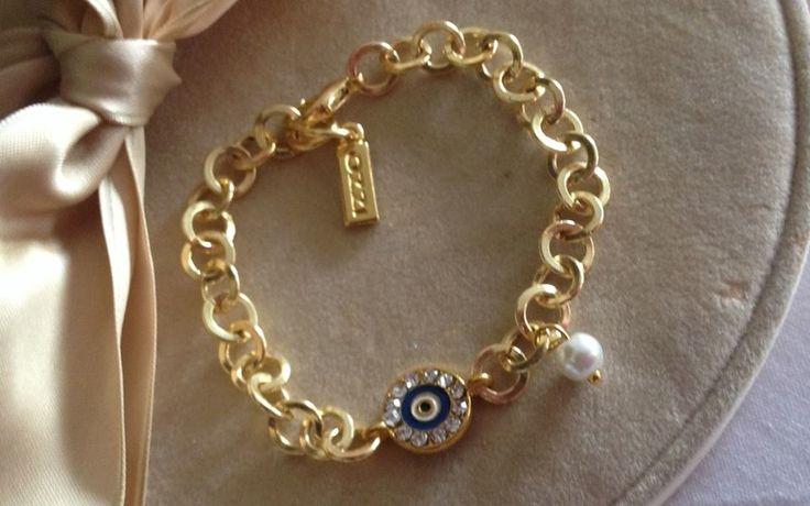 Ozzi Jewellery: Unique golden plated bracelet with smalto Price:15e #OZZIjewellery #jewelry #fashion