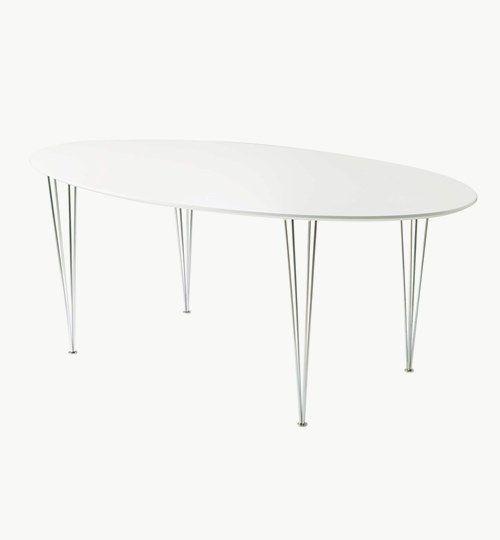 Unit matbord i vitlack. Bordet finns i 3 st olika längder: 170 cm, 190 cm, 230 cm med bredd 100 cm, höjd 72 cm. #azdesign #matbord #bord