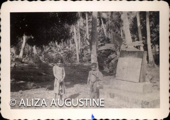 Vintage Black and White Photo Tongatabu by delphiniumsblue on Etsy, $8.00