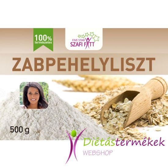 Szafi Fitt Zabpehelyliszt / Zabliszt (nem garantáltan gluténmentes) 500g