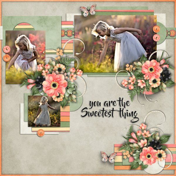 Template Flower Garden by Miss Mel Templates. Kit Summer Squeeze by Jumpstart Designs. Photos from Desktop Nexus.