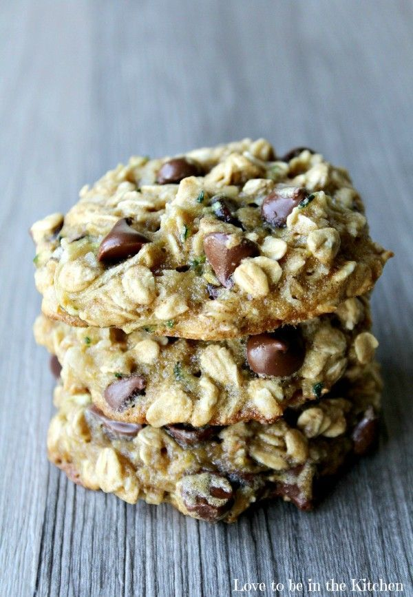Zucchini Oat Coconut Chocolate Chip Cookies- So delicious! My kids didn't even notice the zucchini!