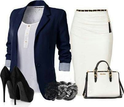 Stylish young professional outfit