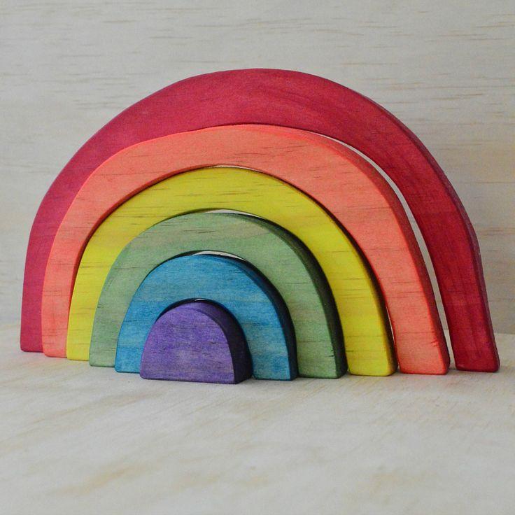 - Little Bubalishka - Waldorf Steiner Inspired Wooden Rainbow Stacker