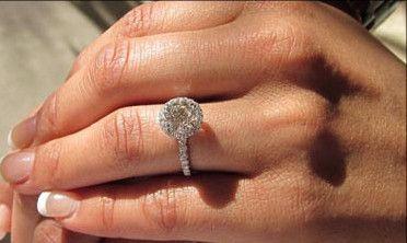 A Perfect 1 Carat Halo Russian Lab Diamond 14K White Gold Engagement Ring - Joy of London Jewels