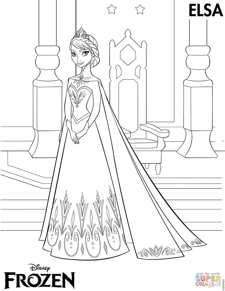 14++ Queen elsa printable coloring pages ideas in 2021