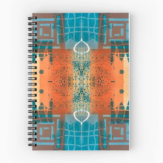 Off to College Supplies,Spiral Bound Notebook,Lined Notebook,Graph Notebook,Original Art Notebook,Tribal Spiral Notebook,Vicki Bolen
