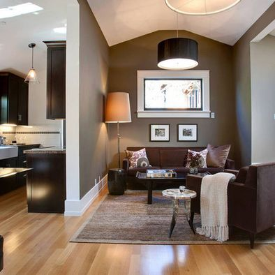 Light wood floors with dark brown furniture color ideas for Brown colors for walls