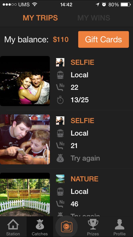 Intreface of Phototrain App