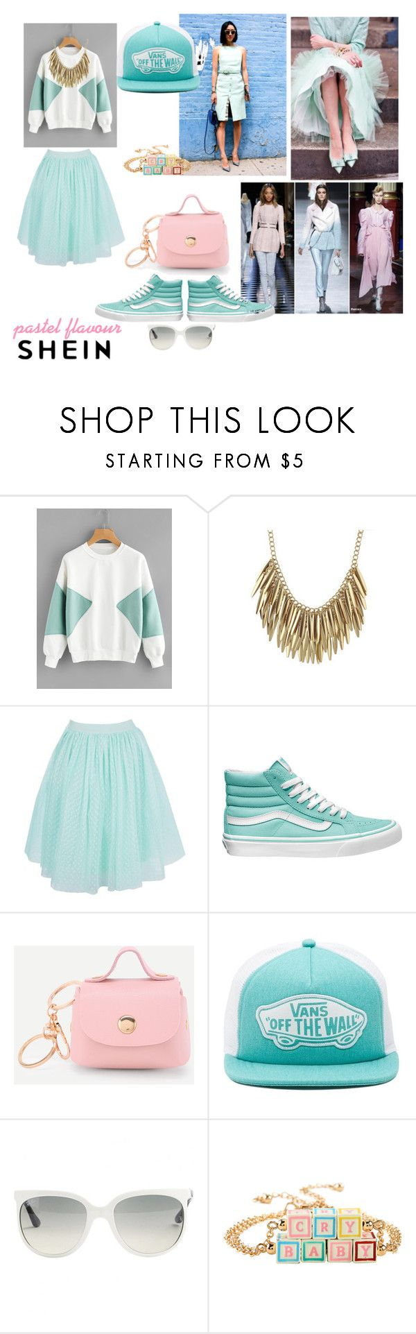 Pastel Flavour by paisleyvelvetandlace on Polyvore featuring Boohoo, Vans, Hot Topic and Ray-Ban
