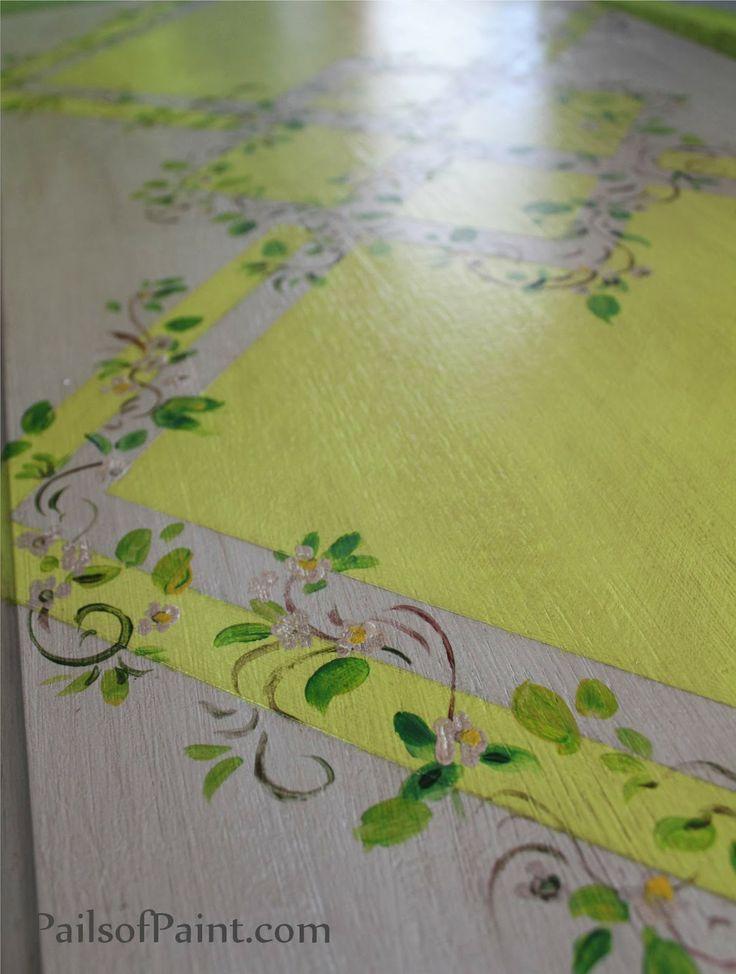 Pails of Paint Art Lesson Painting Vines Leaves