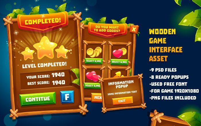 Wooden GUI Asset Part3