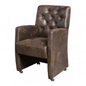 Mooie luxe eetkamer stoel met wieltjes mooie ronding en een armleuning een stoel met erg veel - Luxe eetkamer ...