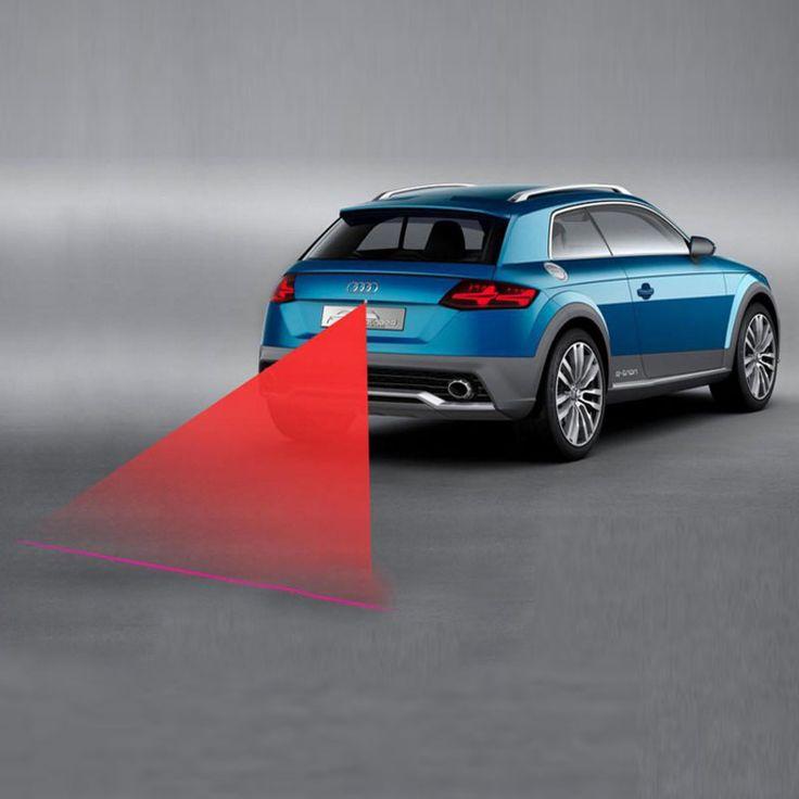 2016 LED Láser venta caliente Anti Colisión Trasera Luz de Niebla Auto de la Lámpara del Freno de la Cola Del Coche Advertencia de Cría-car styling