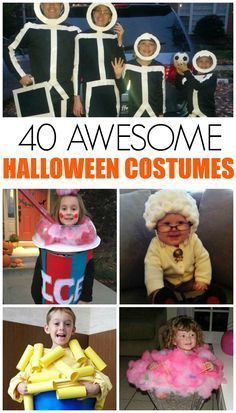 40 of THE BEST Halloween Costumes! Many unique and original Halloween costumes for babies, toddlers, kids, teens and adults Halloween costume ideas | costumes | DIY Halloween costumes | make your own costume | costumes for baby | costumes for teens | ki