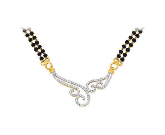 Gorgeous real diamond mangalsutra designs from KISNA: Mangalsutra 40044N #jewellery #indian #diamond #mangalsutra