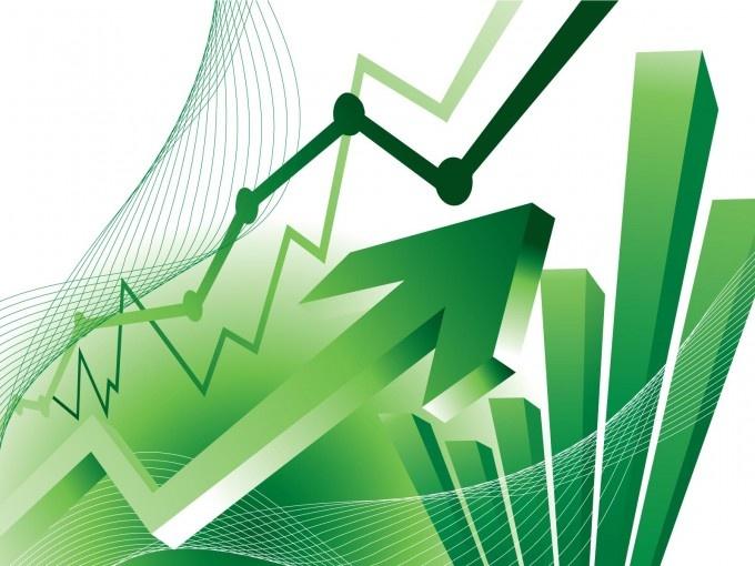 Financial Statistics Chart Background Design