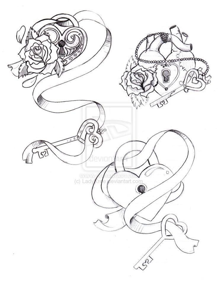 17 mejores ideas sobre tatuajes llave de candado en