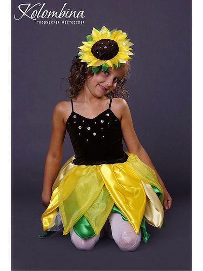 Детские карнавальные костюмы ручной работы. карнавальный костюм подсолнуха. Olga. Интернет-магазин Ярмарка Мастеров. Костюм подсолнуха, органза