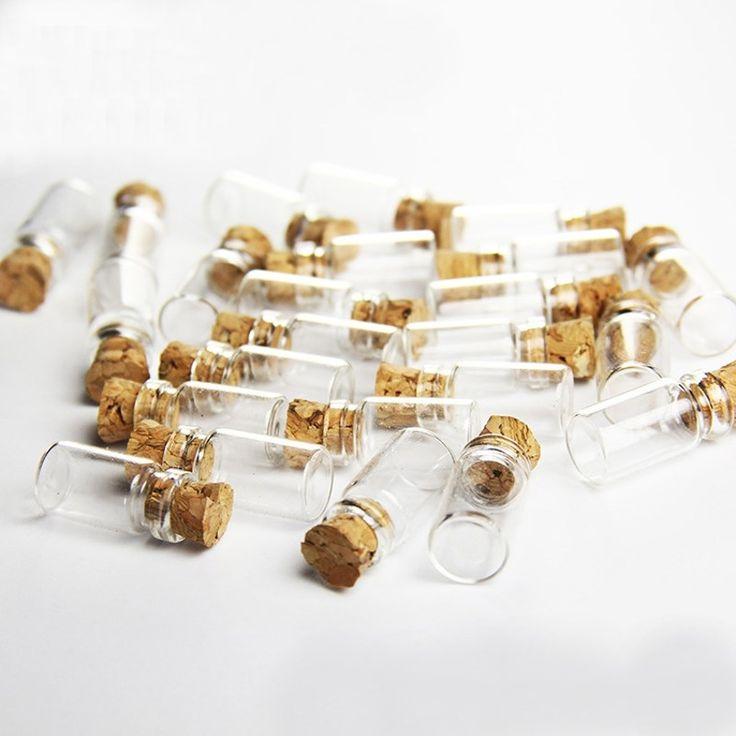 11x22 MM Madera Mini Botellas De Vidrio Cork 100 UNIDS Tapón De Plástico Pequeña Botella Vial Frascos Colgantes Artesanía Deriva botella de Almacenamiento de Arte(China (Mainland))
