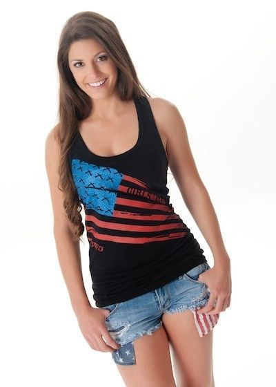 Girls with Guns shirt tank tee black American Flag USA Glitter lace racer back #GirlsWithGuns #GraphicTee