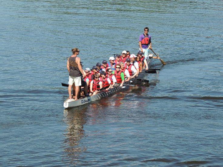 EU Team practises for 2014 Ottawa Dragon Boat Festival race. Photo courtesy of EU Delegation