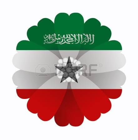 illustration of flower Flag Somaliland photo