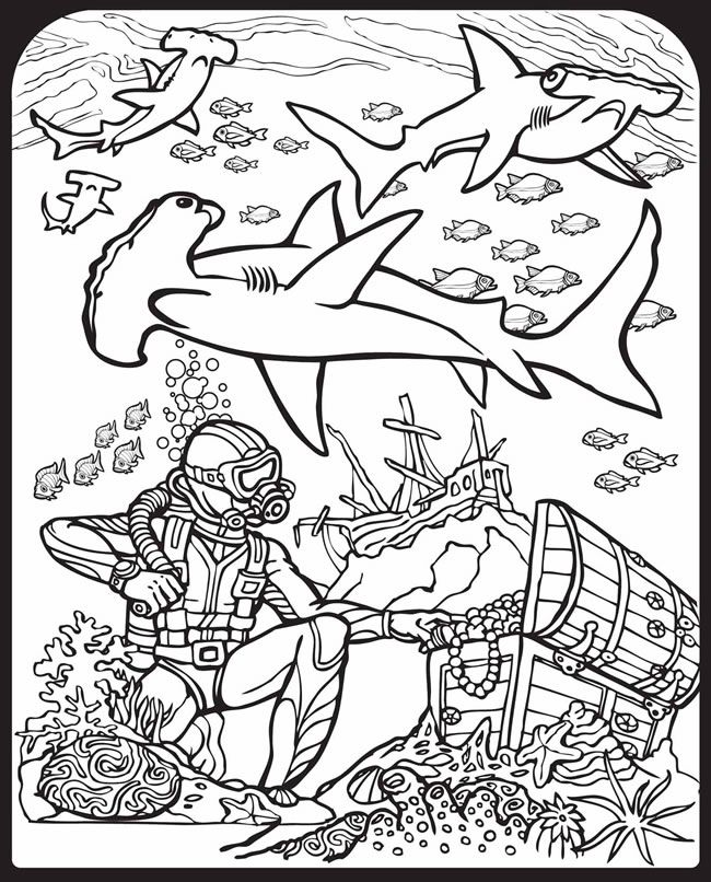 87 best Shark Coloring Pages images on Pinterest Shark coloring