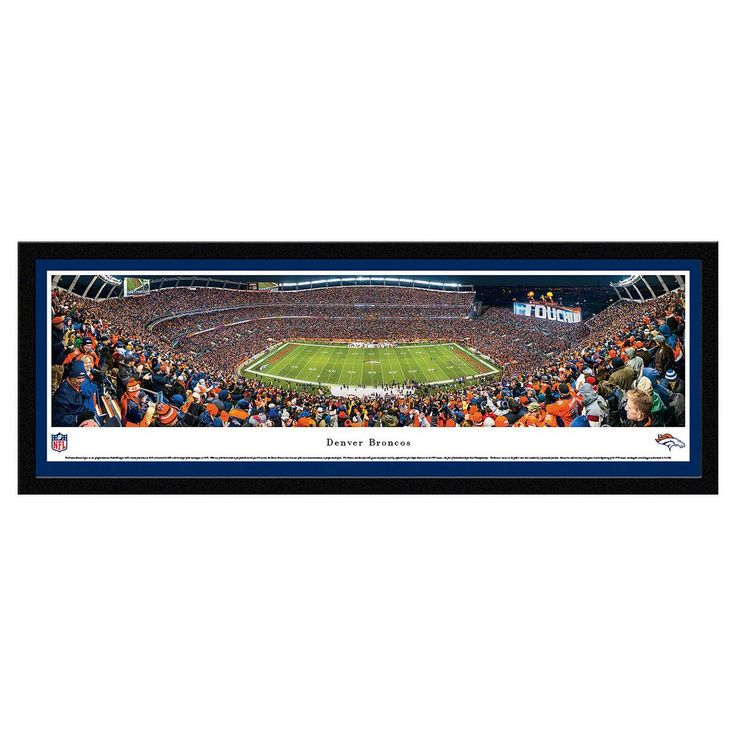NFL Blakeway Stadium 50 Yard Line View Select Framed Wall