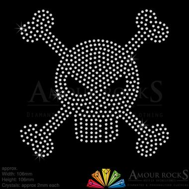 hotfix rhinestone logo designs bring clothing, bags and hats to life, choose the manga skull for the best results