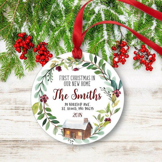 New Home Christmas Ornament Personalized First Christmas New Home Housewarming Gift Realtor Gift Family Ornament First Home Gift In 2020 Christmas Ornaments Personalized Christmas Ornaments Family Ornament