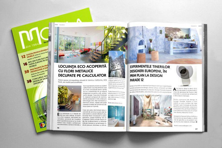 Design grafic și tehnoredactare revista Mobila nr. 4, 2017