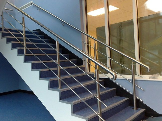 Stainless Steel Handrails #dan330 http://livedan330.com/2015/08/24/give-staircases-look-modern-stainless-steel-handrails/