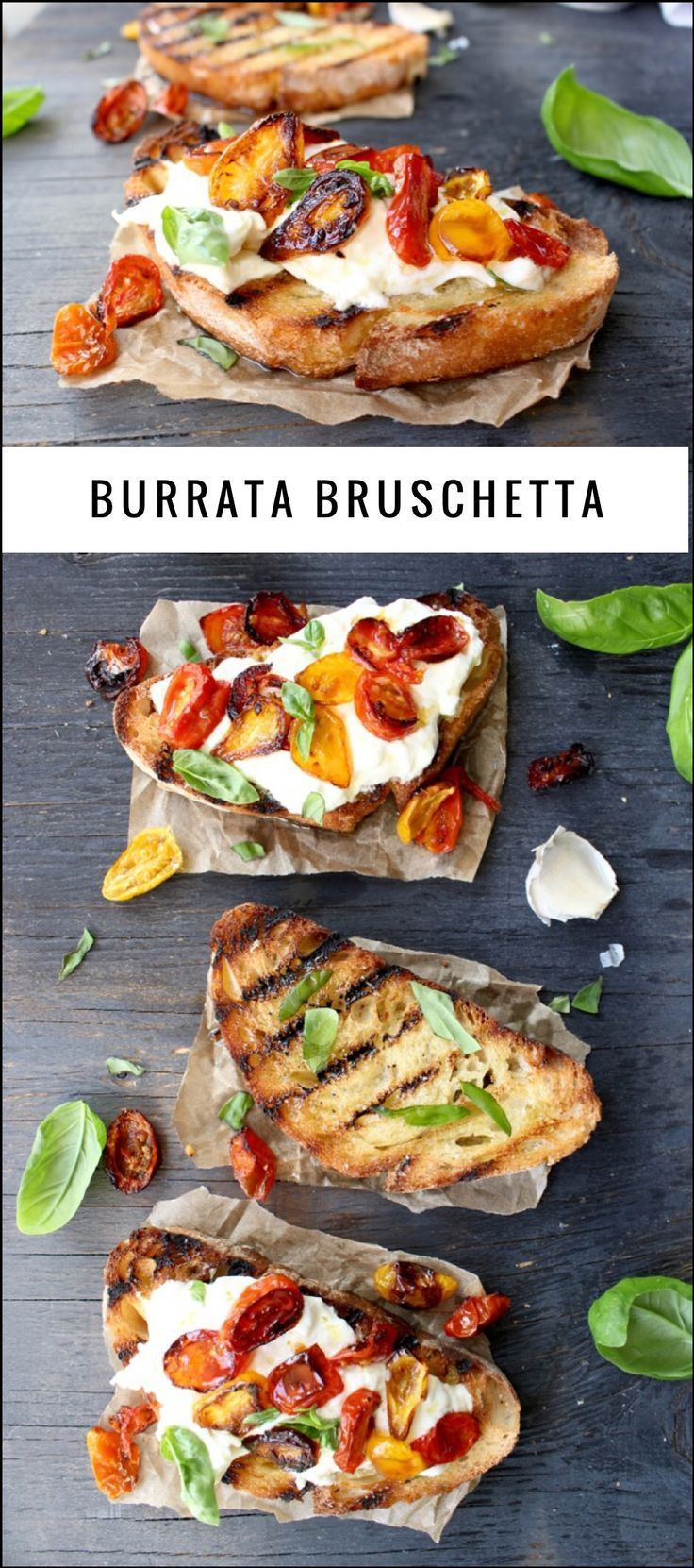 Burrata Bruschetta Recipe | http://CiaoFlorentina.com - try it for dinner this week!