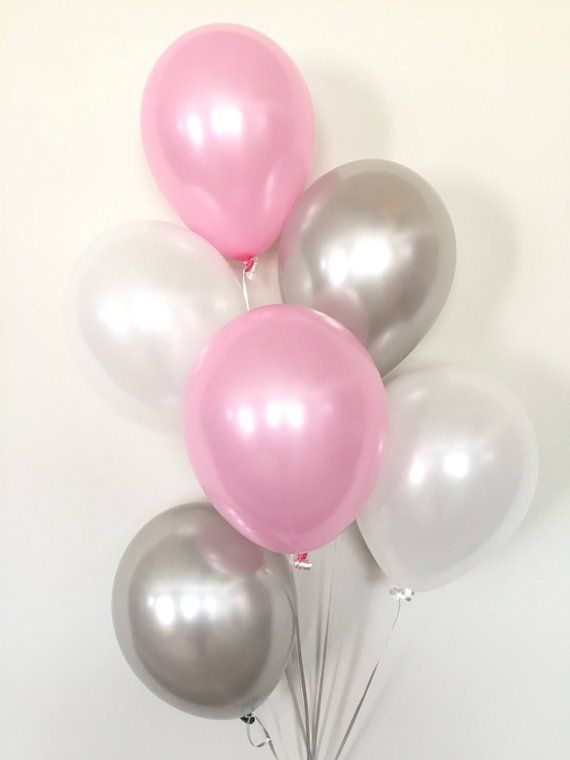 Pink And Gray Balloon Bouquet