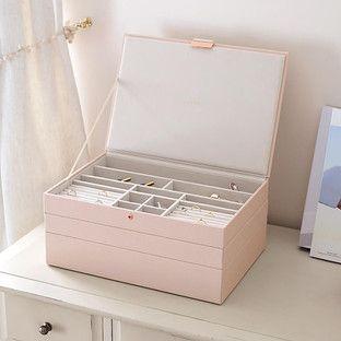 Stacker Blush Supersize Premium Stackable Jewelry Box – ~ closet revam …   – Schmuck