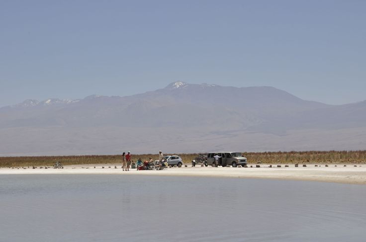 The salt lakes, like in the Dead Sea but in Chile