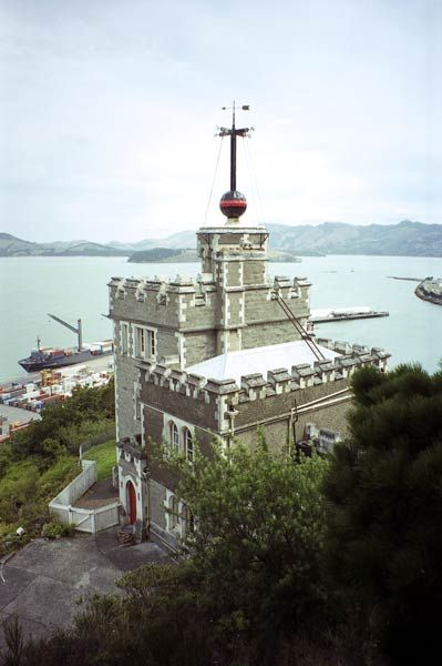 Lyttelton time ball station....Damaged in 2010 and 2011 earthquakes and finally collapsed on 13 June 2011 after a magnitude 6.4 aftershock.