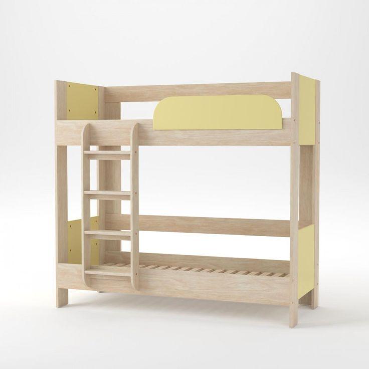 Κρεβάτι Κουκέτα Domino 194.6*97.6*185.5 Φυσικός Δρύς-Κίτρινη μέ Σκάλα και Βάση (τάβλες) Στρωμάτων, Εξαιρετική ποιότητα στιβαρή κατασκευή. Δέχεται στρώματα 80x190 (τα στρώματα δεν περιλαμβάνονται), SO-DO2BEDYEL