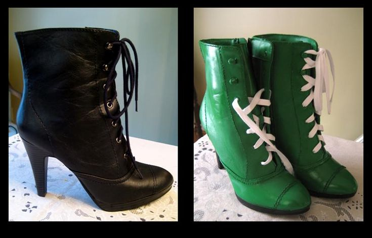 Sailor Jupiter cosplay boots (repaint)